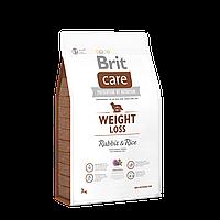 Brit Care Weight Loss Rabbit & Rice корм для собак з надлишковою вагою 3 кг