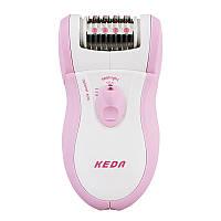 Эпилятор электрический женский keda 180+ насадка для пиллинга , подсветка., фото 1