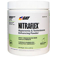 GAT, Nitraflex, Green Apple, 300 Grams Powder, 30 serving