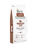 Brit Care Weight Loss Rabbit & Rice корм для собак с избыточным весом, 12 кг