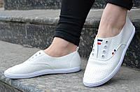 Кроссовки, мокасини женские белые удобные для прогулок (Код: Ш580) 2017