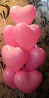 Шарики-сердечки с гелием 25 см, время полёта 10-12 часов
