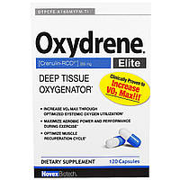 Novex Biotech, Oxydrene Elite, оксигенатор глубоких тканей, 120 капсул
