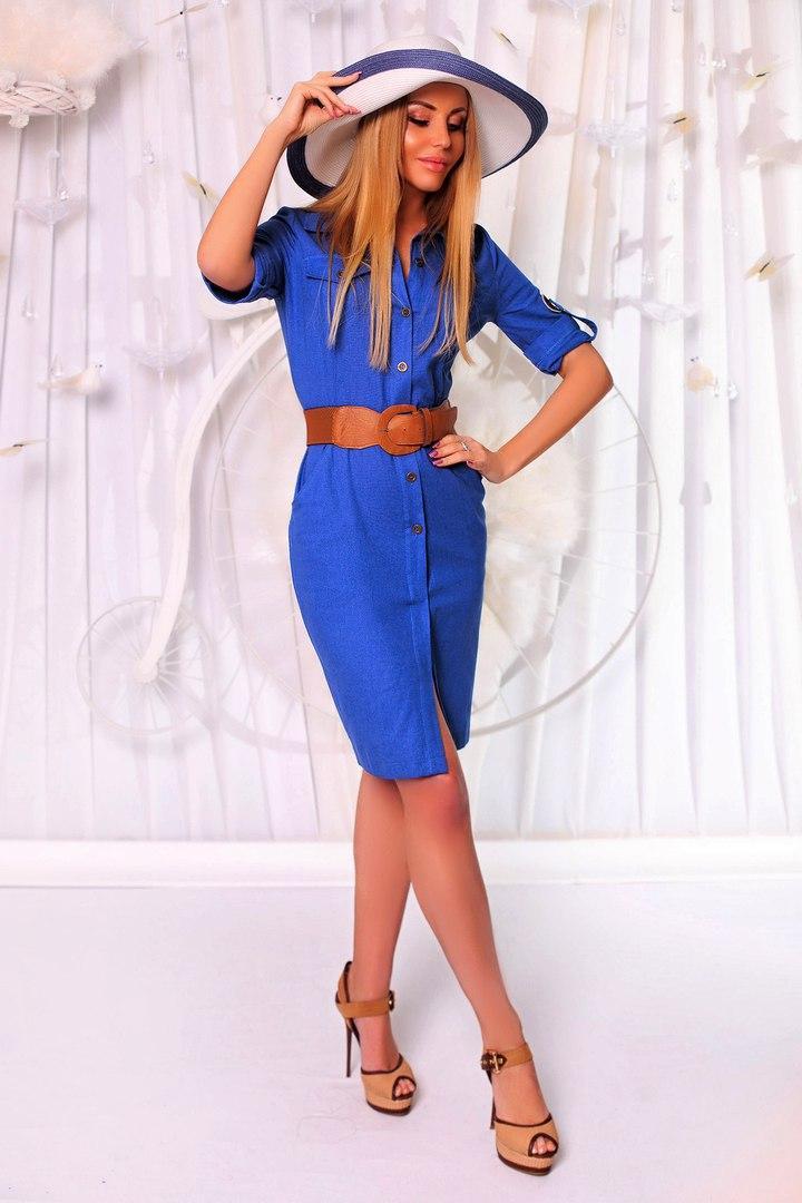 """Платье в стиле сафари в расцветках 957 (189)  - Интернет-бутик """"БЛУЗОН"""" в Одессе"""