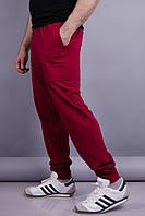 Нави. Спортивные штаны мужские. Бордо. 48