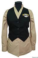 Униформа для официантов: рубашка и жилетка
