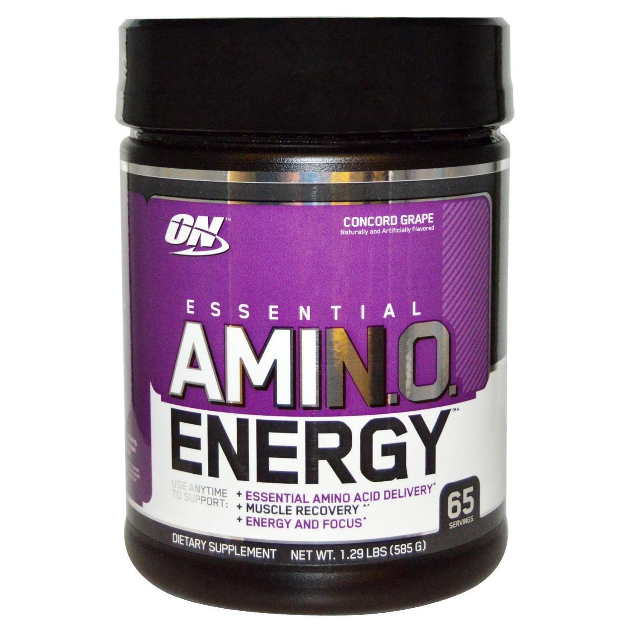 Optimum Nutrition, Энергия незаменимых аминокислот со вкусом винограда, 585г