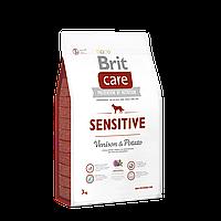 Brit Care Sensitive Venison & Potato беззерновой корм для собак с чувствительным пищеварением, 3 кг
