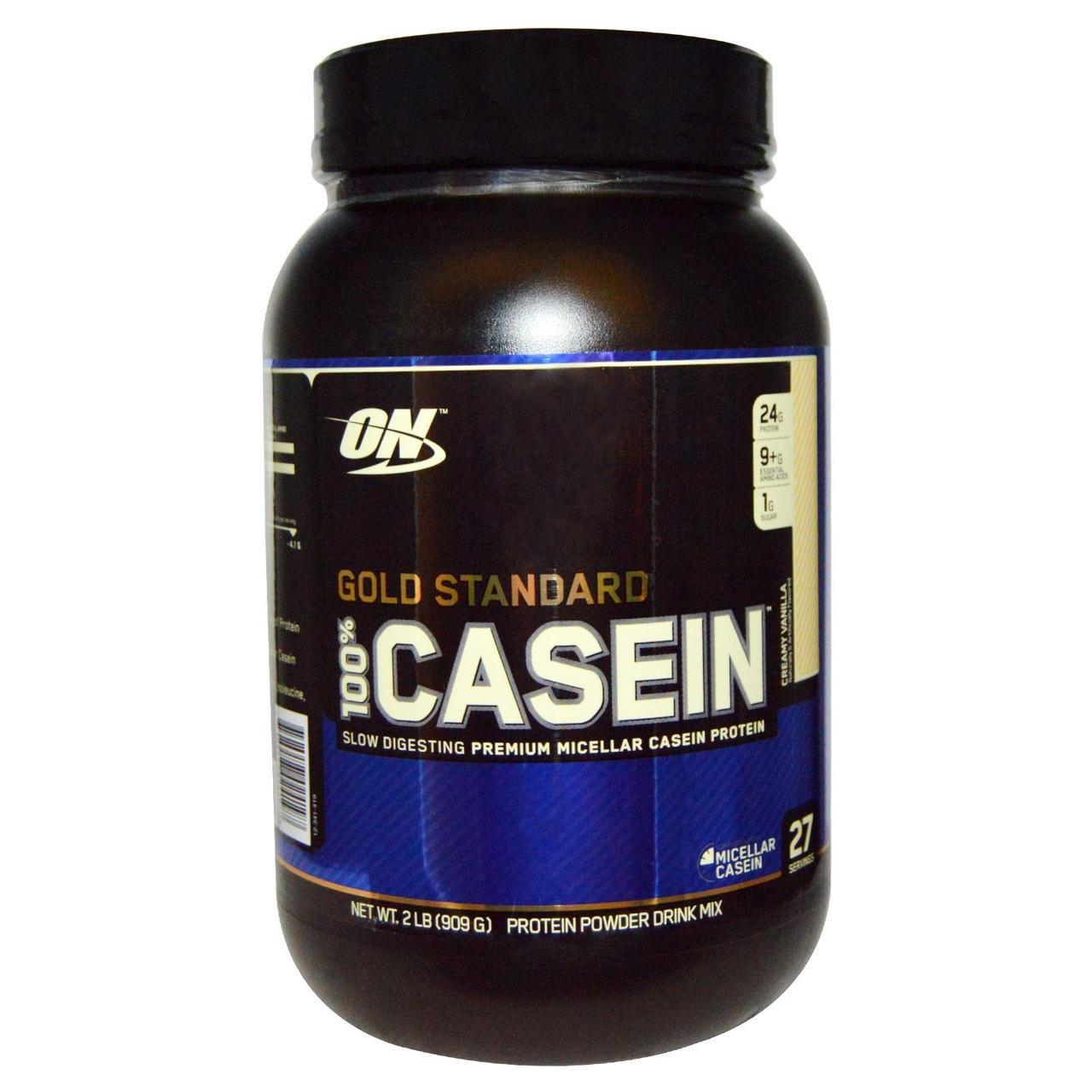 Optimum Nutrition, 100% Casein Gold Standard, Creamy Vanilla, 2 lbs (909 g)