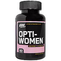 Optimum Nutrition, Opti-Women, Cистема оптимизации питания, 60 капсул