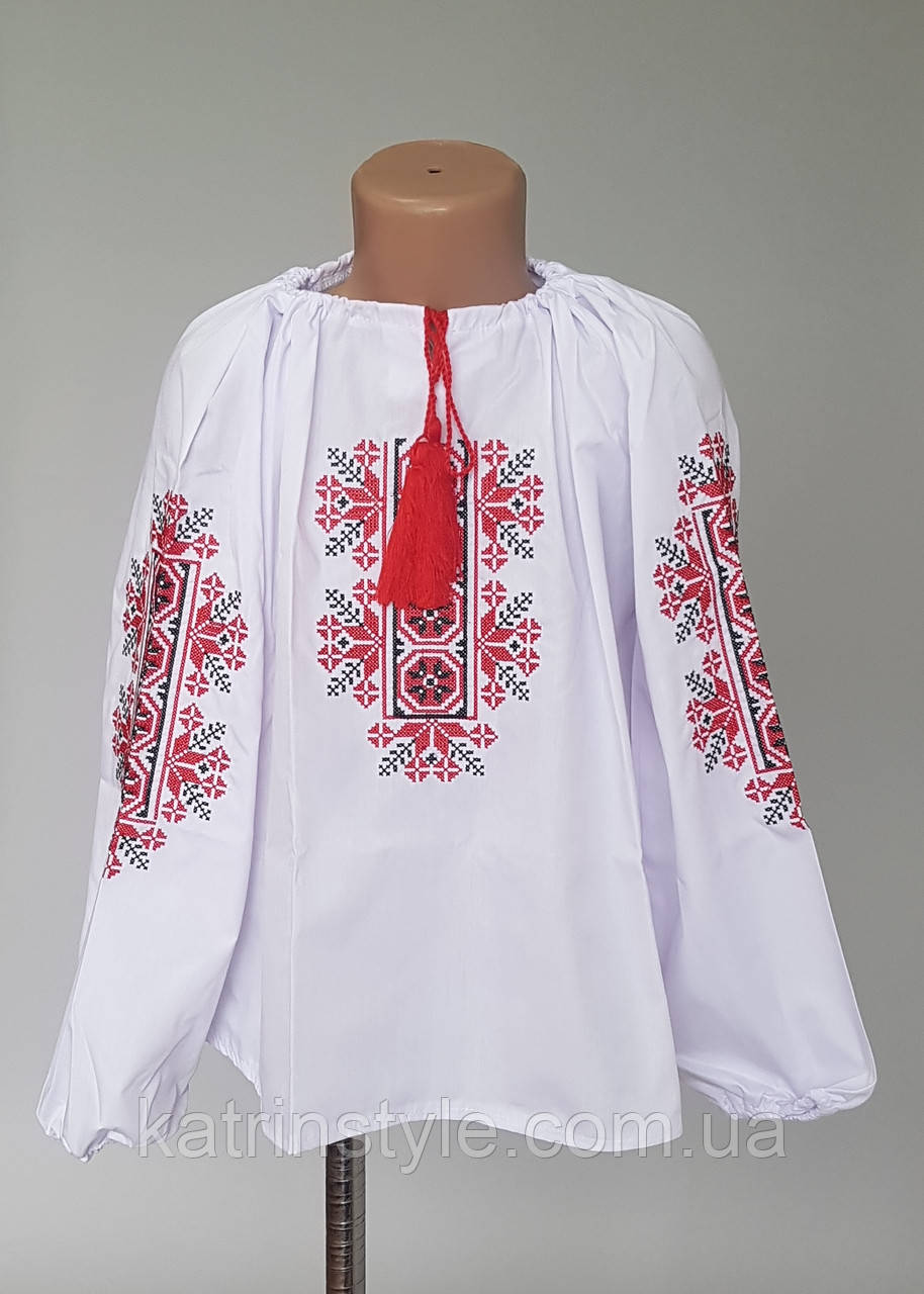 """Детская вышитая блузка """"Калина"""""""