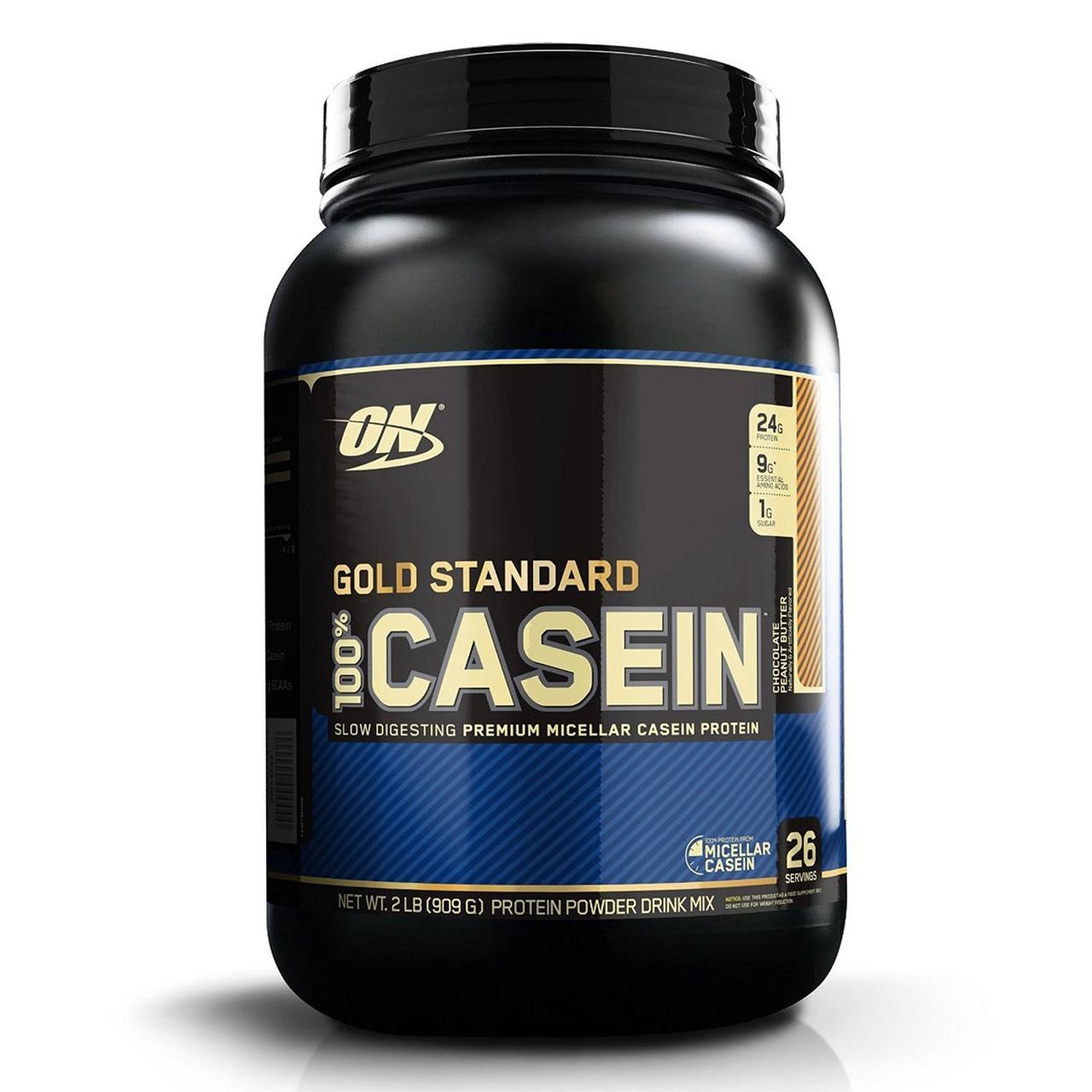Optimum Nutrition, 100%-ный казеин Золотой стандарт, шоколад и арахисовое масло, 2 фунта (909 г)