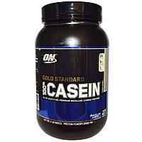 Optimum Nutrition, Золотой стандарт, 100% казеин, протеиновый порошок, печенье, 909 г (2 фунта)