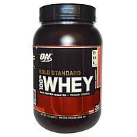 Optimum Nutrition, 100% сыворотка, золотой стандарт, вкусная клубника, 2 фунта (909 г)