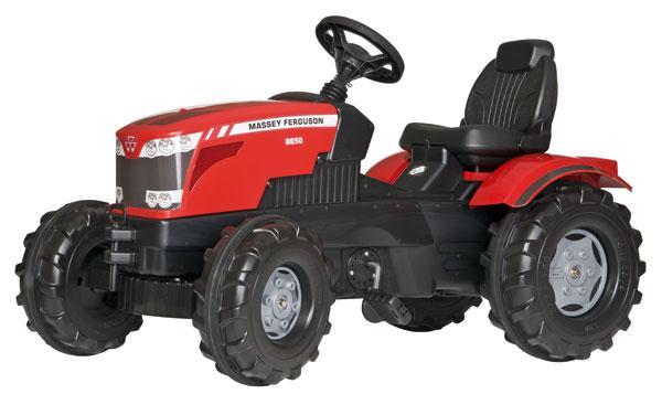 Трактор Педальный Massey Ferguson красный Rolly Toys 601158. Машинка для детей