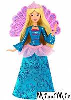 Мини-кукла Розелла, Сказочные принцессы, Barbie, W1287 синее платье