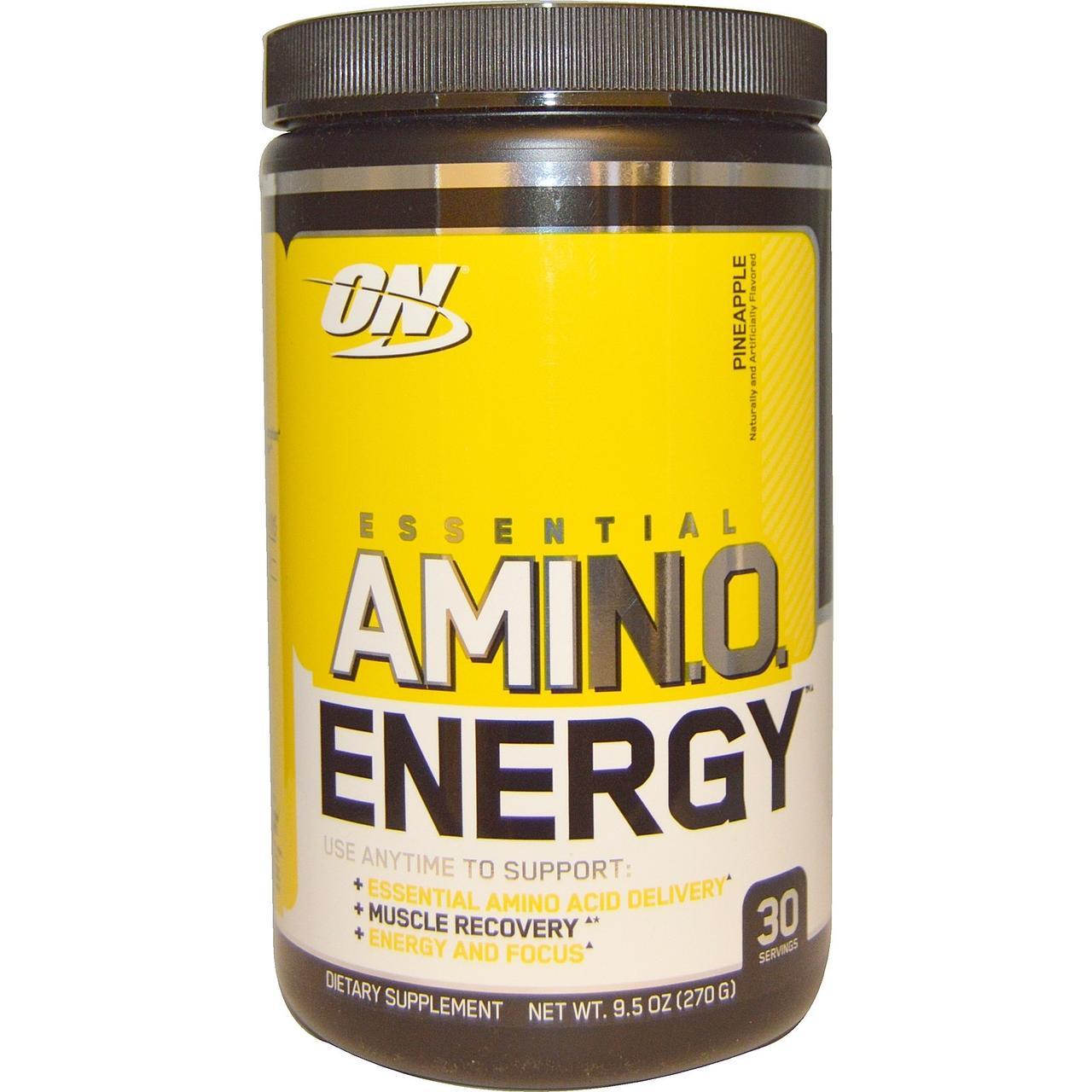 Optimum Nutrition, Essential Amino Energy, со вкусом ананаса, 9,5 унций (270 г)
