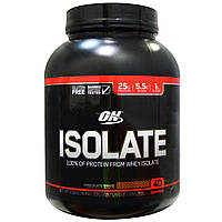 Optimum Nutrition, Изолят протеина, шоколадный коктейль, 3 фунта (1,36 кг)