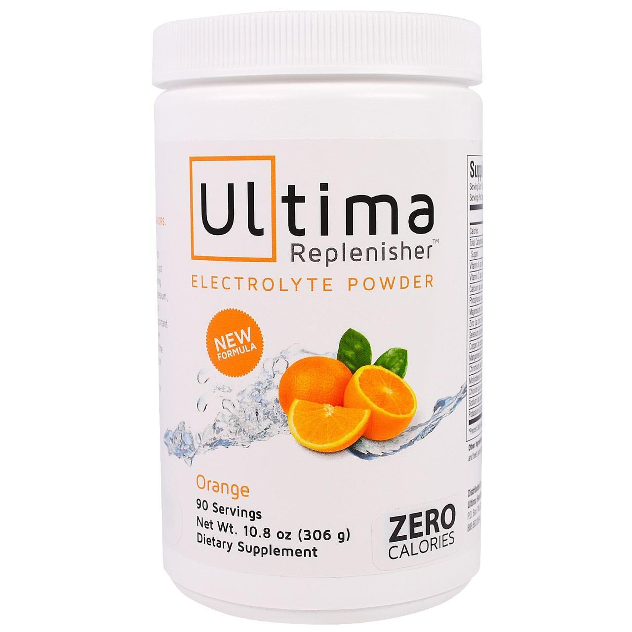 Ultima Health Products, Предельный восполнитель, порошок электролитов с апельсиновым вкусом, 10,8 унции (306 г)