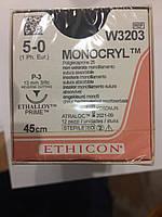 Монокрил (Monocryl) , шовный материал, 5-0, реж., 13 мм, 3/8 круга, 45 см