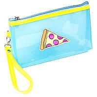 Косметичка Pizza силиконовая голубая