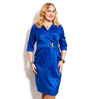 Женское платье большого размера с брошью