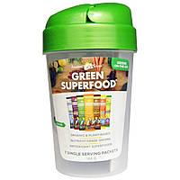 Amazing Grass, Reen Superfood Кубок шейкер и 7 Ароматы Зеленый Суперпищи, 1 - 20 унций чашки, 7 Пакеты (7 г) Каждый