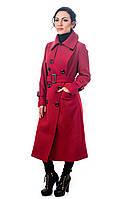 Женское кашемировое пальто Clasna красное, фото 1
