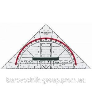 Транспортир с треугольником  Faber-Castell