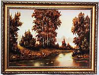 Картина с янтарем Пейзаж П-429