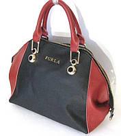 Кожаная сумка с надписью Furla