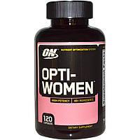 Optimum Nutrition, Opti-Women, Система оптимизации питательных веществ, 120 капсул