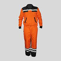 Костюм дорожника, рабочая одежда из светоотражающей полосой,куртка и брюки рабочие
