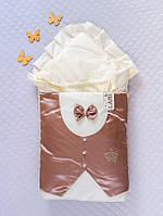 """Стильний демісезонний конверт-ковдра для виписки і прогулянок """"Джентельмен"""", фото 1"""