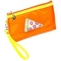 Косметичка Pizza силиконовая оранжевая