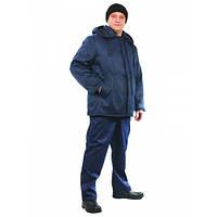 Утепленная курточка с капюшоном, курточка зимняя, спецодежда теплая,рабочая одежда на синтепоне
