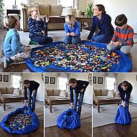 Детский коврик-органайзер - место для игр и мешок для хранения игрушек