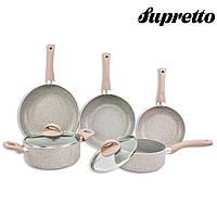 """Набор посуды с антипригарным покрытием """"MARBLE"""" 7 предметов Supretto"""