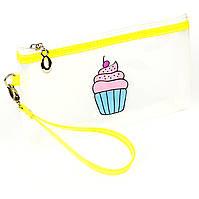 Косметичка Cupcake силиконовая прозрачная