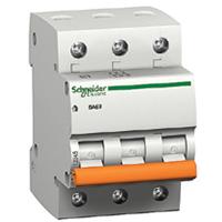 Автоматический выключатель ВА63 3П 10A C. (домовой) Schneider Electric