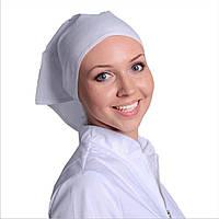 Косынка белая из бязи, головные уборы женские