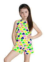 Детский летний трикотажный костюм для девочек