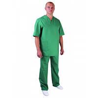 Костюм хирурга зеленый, медицинская одежда