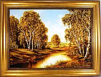 Картина с янтарем Пейзаж П-123