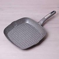 Сковорода-гриль Kamille 28*28*4см с гранитным покрытием без крышки