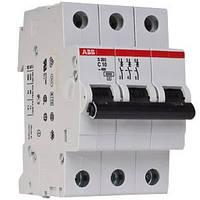 Автоматический выключатель  10A 6кА 3-х полюсный (тип C) (SH203-C10 ABB)