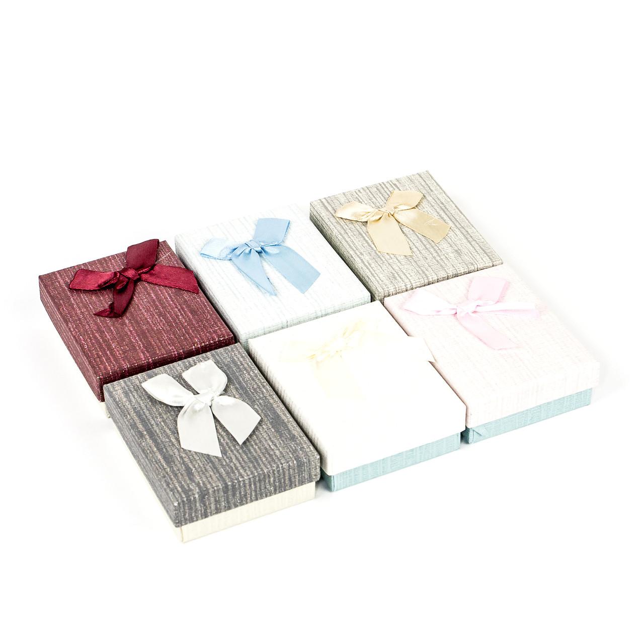 Подарочная коробочка для украшений розовая 9 х 7 х 2,7 см
