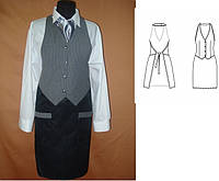 Фартук-жилет и рубашка для официантов, барменов, под заказ