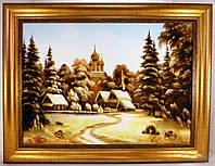 Картина с янтарем Пейзаж П-62