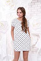 Летнее короткое белое платье А 40 Arizzo 44-54 размеры